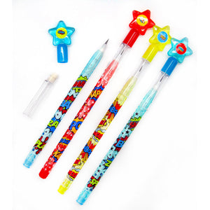 Superhero Multi Point Pencils - 24 Pcs