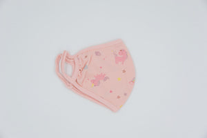 Organic Cotton Pink Toddler Face Masks