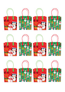 Christmas Party Favor Treat Bags - 12 Bags $ 12.99 Tiny Mills®
