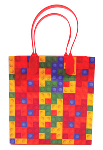 Building Blocks Brick Party Favor Bags Treat - 12 Bags - Paper Bags | Tiny Mills®