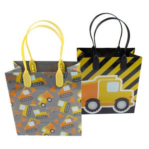 Construction Trucks Party Favor Bags Treat Bags - 12 Bags - Paper Bags | Tiny Mills®