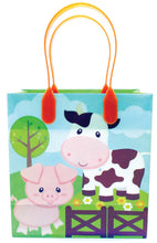 Load image into Gallery viewer, Barnyard Farm Animals Party Favor Treat Bags - Set of 6 or 12