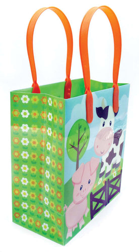 Barnyard Farm Animals Party Favor Treat Bags - Set of 6 or 12