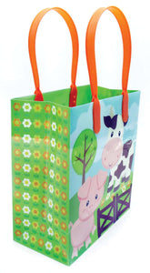 Barnyard Farm Animals Party Favor Treat Bags - 12 Bags - Paper Bags | Tiny Mills®