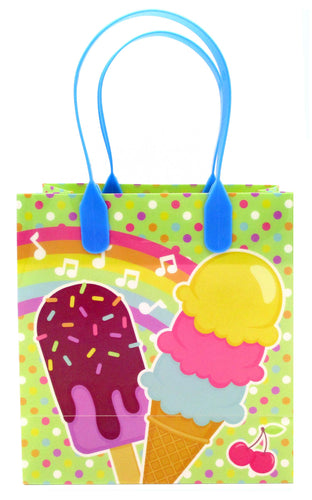 Ice Cream Party Favor Treat Bags - 12 Bags