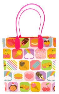 Ice Cream Party Favor Treat Bags - Set of 6 or 12
