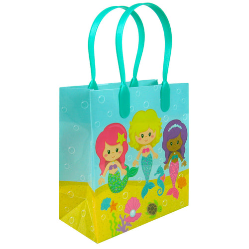 Mermaid Party Favor Bags Treat Bags - 12 Bags