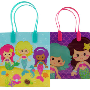 Mermaid Party Favor Bags Treat Bags - Set of 6 or 12