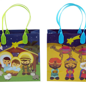 Nativity Party Favor Bags Treat Bags - 12 Bags - Paper Bags | Tiny Mills®