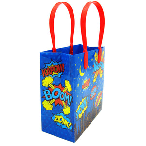 Superhero Text Party Favor Bags - 12 Bags