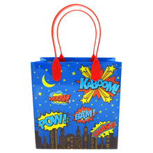 Load image into Gallery viewer, Superhero Text Party Favor Bags - 12 Bags