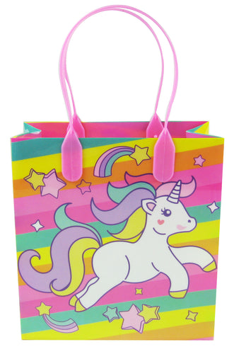 Pink Unicorn Party Favor Bags Treat Bags - Set of 6 or 12