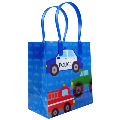 Cars Fire Trucks Transportation Party Favor Bags Treat Bags - 12 Bags