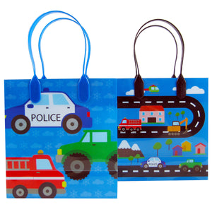 Cars Fire Trucks Transportation Party Favor Bags Treat Bags - Set of 6 or 12