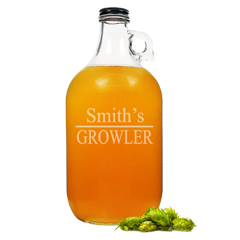 Personalized Home Brew Beer Growler - PersonalizationPop Test Store