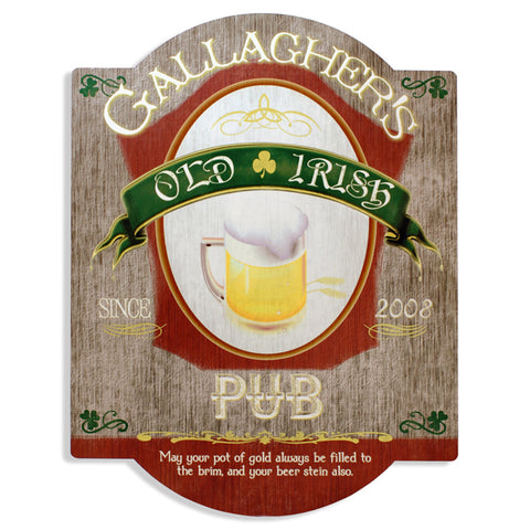Personalized Irish Beer Bar Sign - PersonalizationPop Test Store