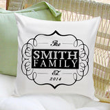 16x16 Throw Pillow Family - Classic Black - PersonalizationPop Test Store