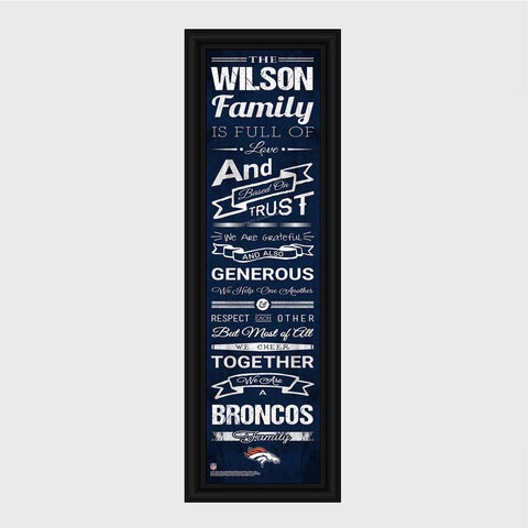 NFL Family Cheer Print & Frame