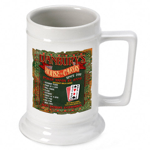 16oz. Ceramic Beer Stein - House of Cards - PersonalizationPop Test Store