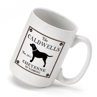 Cabin Series Coffee Mug - Labrador - PersonalizationPop Test Store
