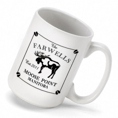 Cabin Series Coffee Mug - Moose - PersonalizationPop Test Store