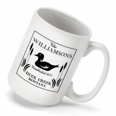 Cabin Series Coffee Mug - Wood Duck - PersonalizationPop Test Store