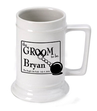 Personalized Groom to Be Beer Stein - PersonalizationPop Test Store