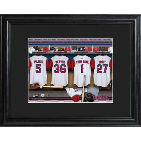 Personalized MLB Clubhouse Print w/Matted Frame - Angels - PersonalizationPop Test Store
