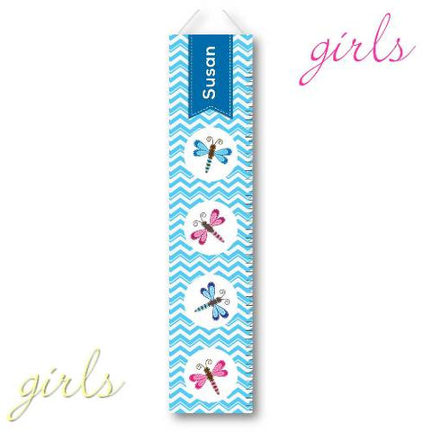 Kids Canvas Height Chart - Dragonfly 1