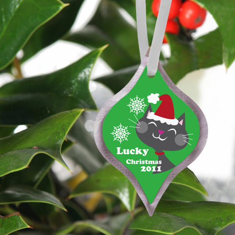Christmas Ornament - Kitty - PersonalizationPop Test Store