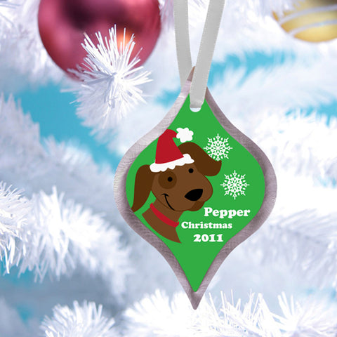 Christmas Ornament - Puppy - PersonalizationPop Test Store