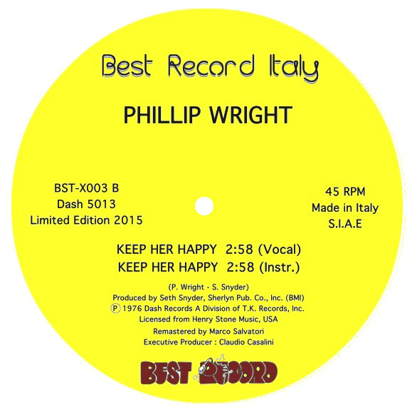 PHILLIP WRIGHT - Keep Her Happy