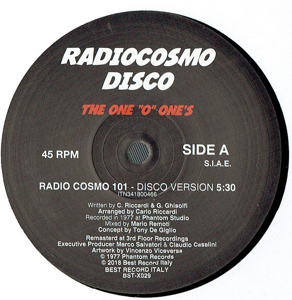 THE ONE  - O' ONE'S 'Radio Cosmo 101