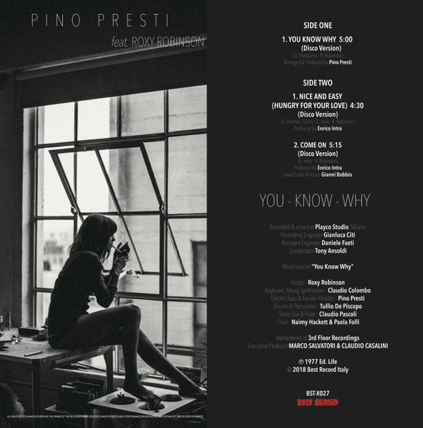 PINO PRESTI ft. ROXY ROBINSON  - You Know Why/Nice & Easy/Come On