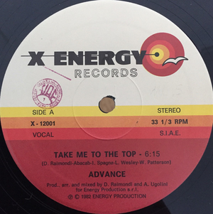 Advance ‎– Take Me To The Top