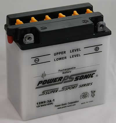 PowerSonic 12N9-3A-1 Powersport Conventional Battery - GetMyBattery.com