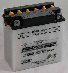 PowerSonic 12N9-3A-1 Powersport Conventional Battery, POWERSPORTS - GetMyBattery.com