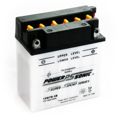 PowerSonic 12N7D-3B Powersport Conventional Battery, POWERSPORTS - GetMyBattery.com