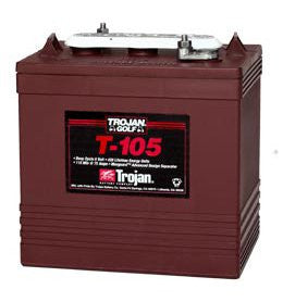 Trojan T-105 6v 225ah Golf Cart Battery - GetMyBattery.com
