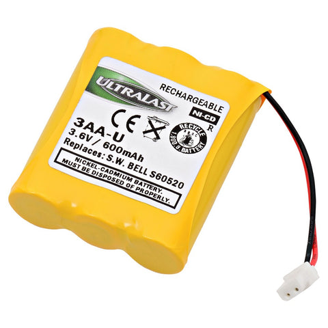 Replacement GE/Sanyo 48596 Cordless Phone Battery | Part #3AA-U