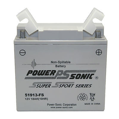 Powersonic 51913-FS Factory Activated Maintenance Free Battery (AGM) replacement for the YT19BL-BS - GetMyBattery.com