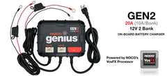 NOCO GEN2 12V-24V 2 Bank On-Board Battery Charger, Battery Chargers - GetMyBattery.com