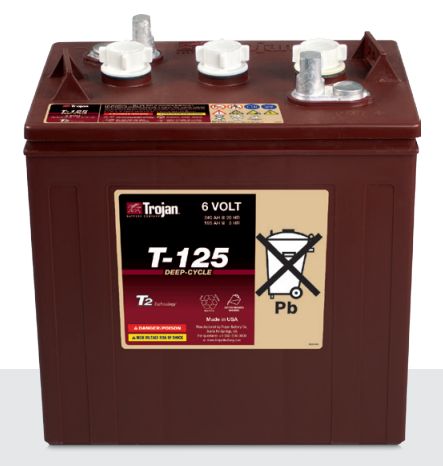 Trojan t 125 6v 240ah deep cycle floodedwet lead acid battery trojan t 125 6v 240ah deep cycle floodedwet lead acid battery sciox Gallery