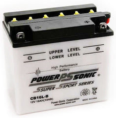 PowerSonic CB16L-B Powersport Battery Replacement for YB16L-B, Motorcycle - GetMyBattery.com