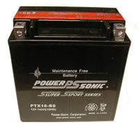 PowerSonic PTX16-BS Battery replacement for YTX16-BS