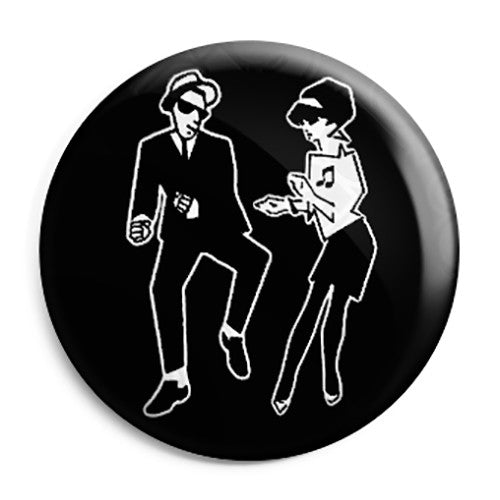 2 Tone - Dancing Rude Boy and Girl Couple Button Badge