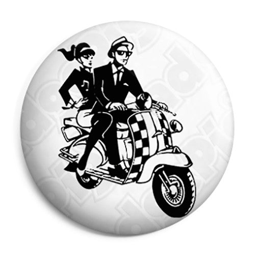 2 Tone - Scooter Rude Boy and Girl Couple Button Badge