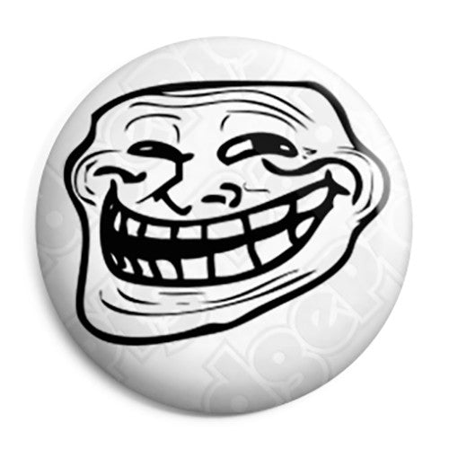 4Chan - Troll Face - Internet Button Badge