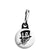 Ace of Spades - Smoking Top Hat Skull - Biker Zipper Puller