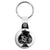Ace of Spades - Top Hat Skull - Biker Key Ring